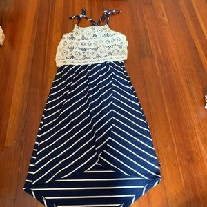 navy blue & white striped Tommy Hilfiger dress